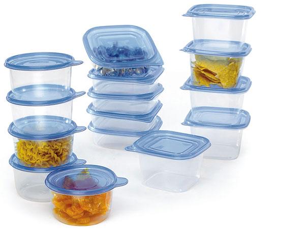 Видове кутии от пластмаса за съхранение на храна